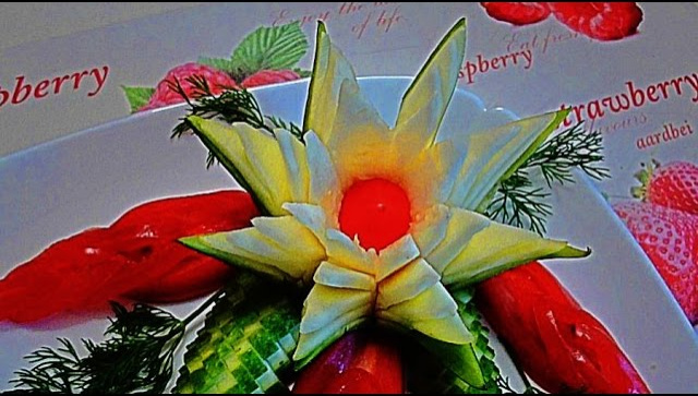 Цветок из кабачка