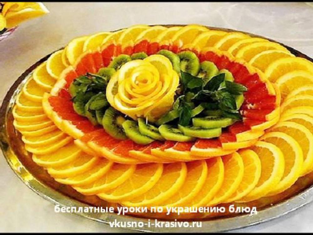 Украшение блюд из фруктов