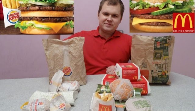 Обзор еды - Макдоналдс против Бургер Кинг