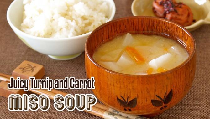Мисо-суп с морковью и репой - Рецепт