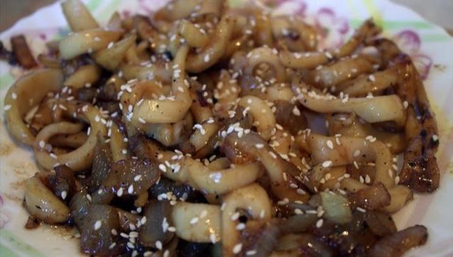 Кальмары по-китайски - Видео-рецепт