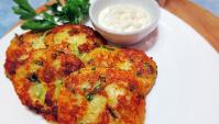 Картофельные оладьи с сыром - Видео-рецепт