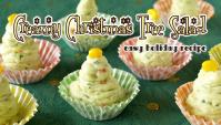 Сливочный салат в виде Рождественской ёлки - Рецепт