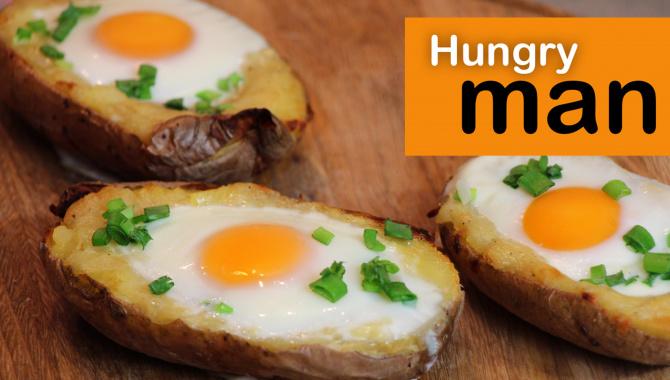 Яйтошка. Картофель запеченный с сыром, зеленью и яйцом. Видео - рецепт.