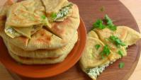 Лепешки с творогом и зеленью - Видео-рецепт