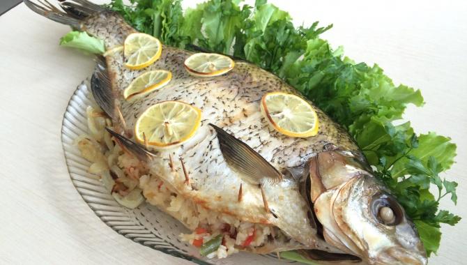 Рецепт рыбы в духовке с рисом