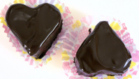 Шоколадные пирожные в виде сердца - Видео-рецепт