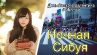 Ночная Сибуя. День Святого Валентина в Японии - Видео