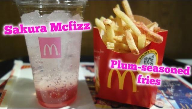 Новинки от японского McDonalds: Сакура McFizz и картофель Ume - Видео