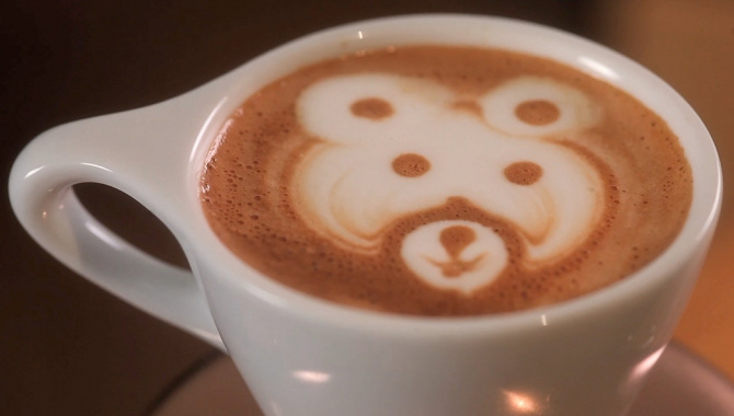 Латте Арт. Как сделать медведя