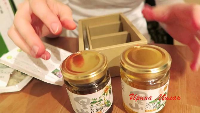 Япония. Коробочка с Медом. Две Баночки с Ложечкой-Подарочный Набор - Видео