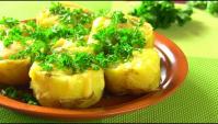 Картофель фаршированный перепелиными яйцами - Видео-рецепт