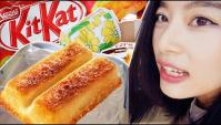 Пробуем жарить шоколад KITKAT в тостере. Странные японские сладости - Видео
