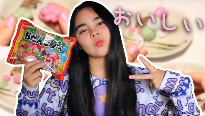Традиционные японские сладости из порошка - Видео