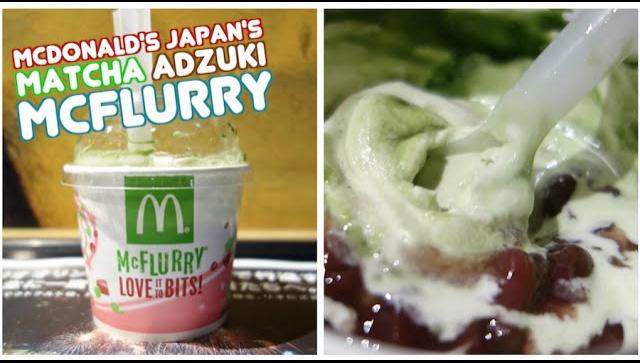 Новый McFlurry с зеленым чаем матча и сладкими бобами адзуки от McDonald's - Видео