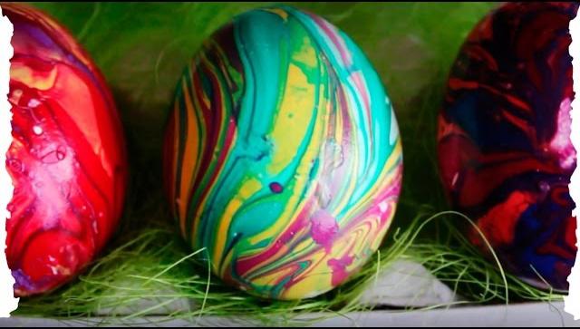 Еще три способа оригинально покрасить яйца к Пасхе!