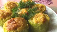Фаршированные кабачки в духовке - Видео-рецепт