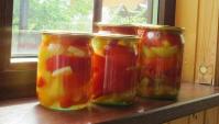 Маринованный болгарский перец на зиму - Видео-рецепт