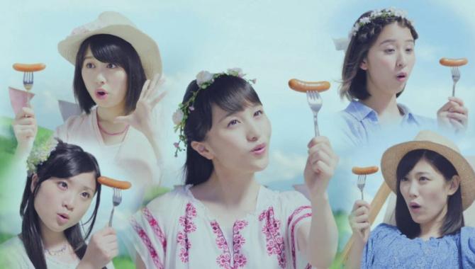 Японская Реклама - Yonekyu Goteara - PoPoPoPo - Momoiro Clover Z