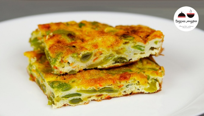 Запеканка с зеленой фасолью - Видео-рецепт