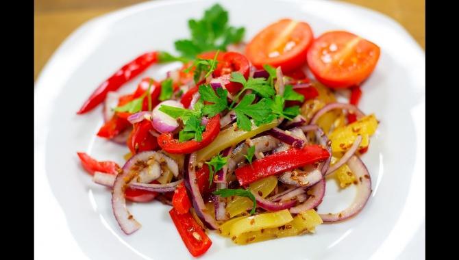 Сладкий перец по-корейски - Видео-рецепт