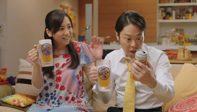 Японская Реклама - Пиво Kirin Nodogoshi