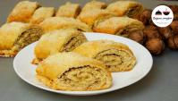 Cлоеное печенье с грецкими орехами - Видео-рецепт