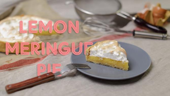Пирог с лимонным кремом и меренгой - Видео-рецепт