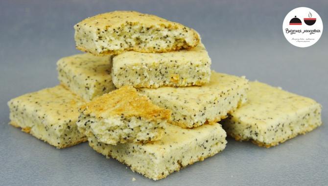 Песочное печенье с маком и ароматом лимона - Видео-рецепт