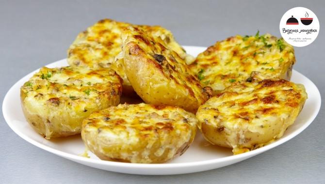 Картофель запеченный с чесночным маслом - Видео-рецепт