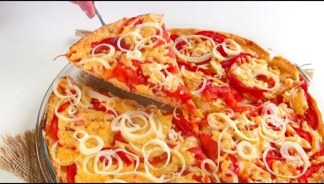 Пицца помидорная Синьорина - Видео-рецепт