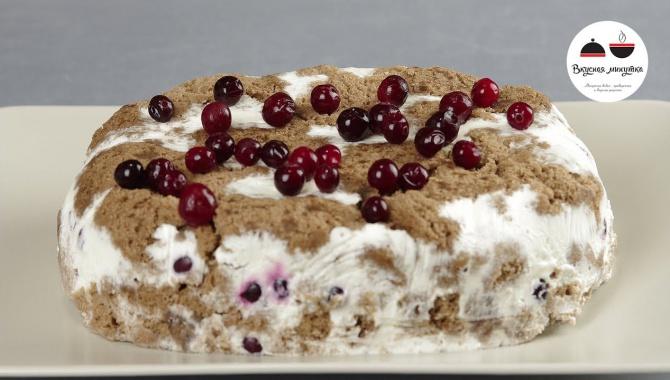 Бисквитный торт в микроволновке - Видео-рецепт