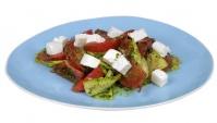 Салат из кабачков под зеленой заправкой - Видео-рецепт