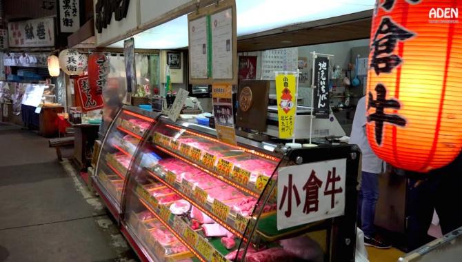 Продуктовый рынок в Японии - Китакюсю (Видео)