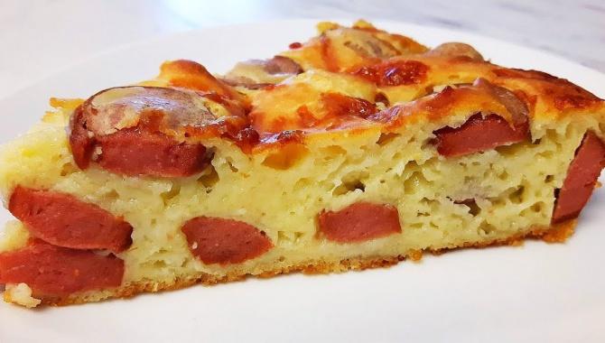 Пирог с сыром и сосисками - Видео-рецепт