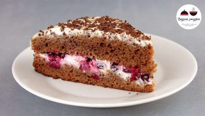 Легкий торт без яиц и масла - Видео-рецепт