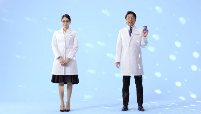 Японская Реклама - Йогурт Meiji LG21