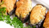 Жареные баклажаны с фаршем - Видео-рецепт