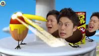 Японская Реклама - Morinaga - Шоколадные шарики с арахисом Chocoball