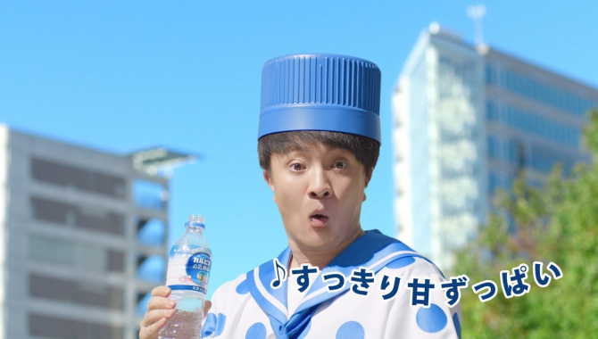 Японская Реклама - Asahi - Вода Delicious Water Plus