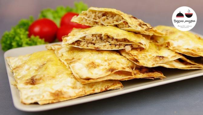 Пирожки с мясом из лаваша - Видео-рецепт