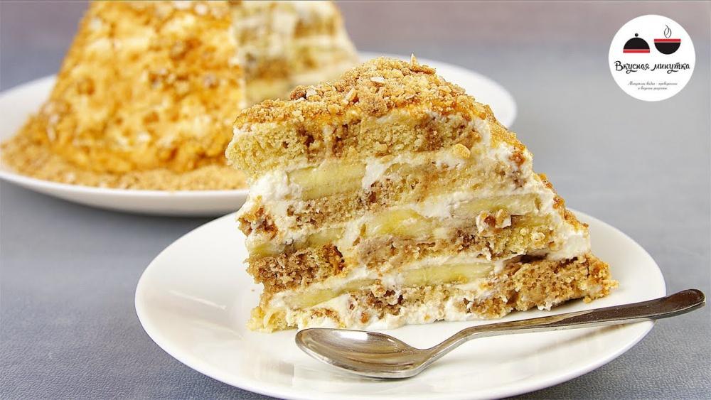 Простой торт без выпечки из печенья рецепт с пошагово