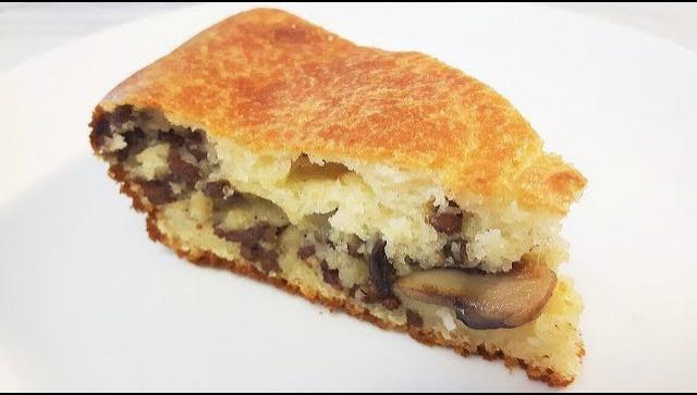 Пирог с мясом и грибами - Видео-рецепт