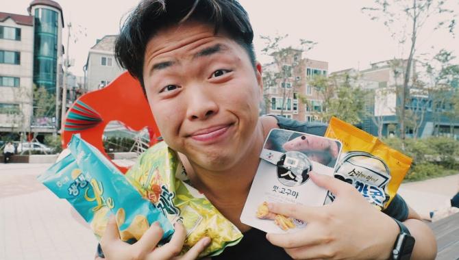 Пробую Странную Корейскую Еду (Видео)