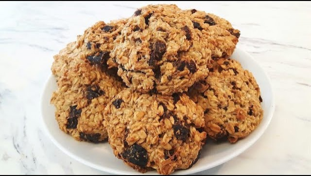 Диетическое овсяное печенье - Видео-рецепт