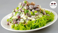 Салат с консервированной фасолью - Видео-рецепт