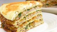 Торт с капустой и мясом - Видео-рецепт