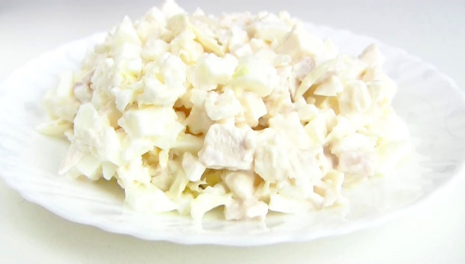 Салат Белоснежка - Видео-рецепт