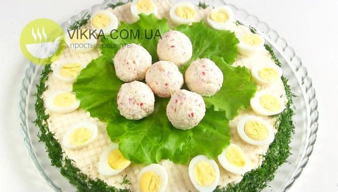 Торт закусочный крабовый - Видео-рецепт
