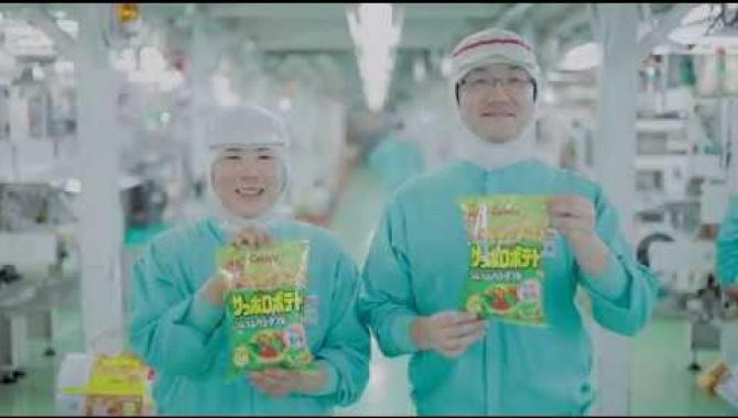 Производство картофельных чипсов Calbee Sapporo Potato (Видео)